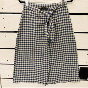 Zara Trafaluc Plaid Cotton Wrap Skirt